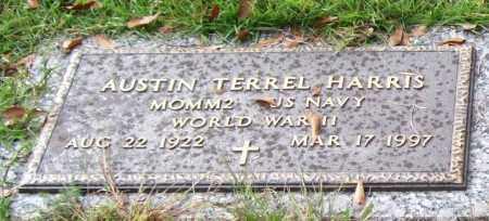 HARRIS (VETERAN WWII), AUSTIN TERREL - Saline County, Arkansas | AUSTIN TERREL HARRIS (VETERAN WWII) - Arkansas Gravestone Photos
