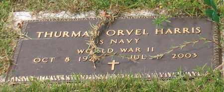 HARRIS (VETERAN WWII), THURMAN ORVEL - Saline County, Arkansas   THURMAN ORVEL HARRIS (VETERAN WWII) - Arkansas Gravestone Photos