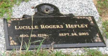ROGERS HEFLEY, LUCILLE - Saline County, Arkansas   LUCILLE ROGERS HEFLEY - Arkansas Gravestone Photos