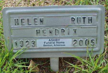 HENDRIX, HELEN RUTH - Saline County, Arkansas | HELEN RUTH HENDRIX - Arkansas Gravestone Photos