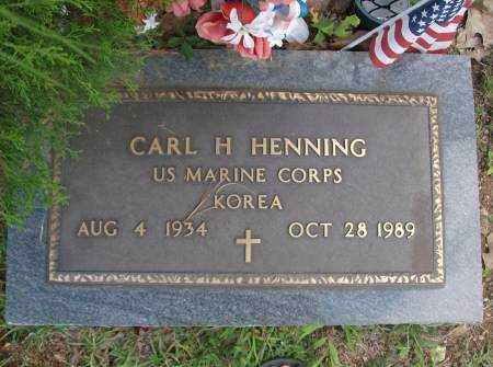 HENNING  (VETERAN KOR, CARL H. - Saline County, Arkansas | CARL H. HENNING  (VETERAN KOR - Arkansas Gravestone Photos