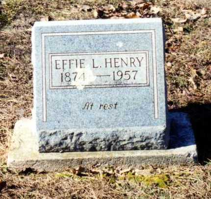 WILKINSON HENRY, EFFIE L. - Saline County, Arkansas | EFFIE L. WILKINSON HENRY - Arkansas Gravestone Photos