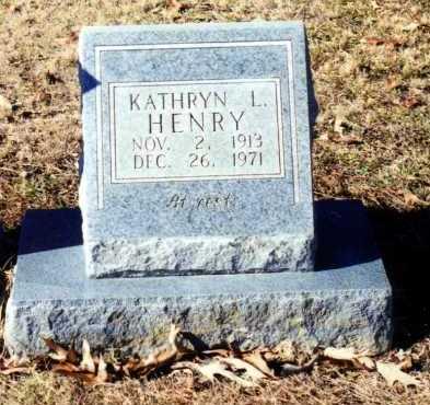LEWIS HENRY, KATHRYN L. - Saline County, Arkansas | KATHRYN L. LEWIS HENRY - Arkansas Gravestone Photos