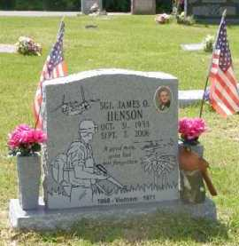HENSON, JAMES O. - Saline County, Arkansas | JAMES O. HENSON - Arkansas Gravestone Photos