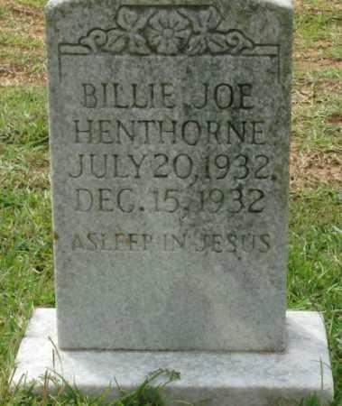 HENTHORNE, BILLIE JOE - Saline County, Arkansas   BILLIE JOE HENTHORNE - Arkansas Gravestone Photos