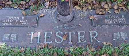 HESTER, JOHN F. - Saline County, Arkansas   JOHN F. HESTER - Arkansas Gravestone Photos