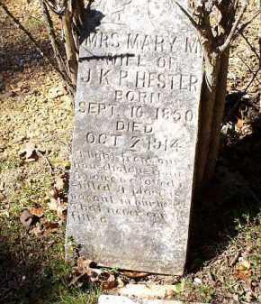 HESTER, MARY M - Saline County, Arkansas | MARY M HESTER - Arkansas Gravestone Photos