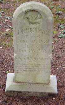 HICKMAN, JOSEPH W. - Saline County, Arkansas   JOSEPH W. HICKMAN - Arkansas Gravestone Photos