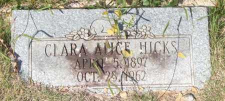 HICKS, CLARA ALICE - Saline County, Arkansas | CLARA ALICE HICKS - Arkansas Gravestone Photos