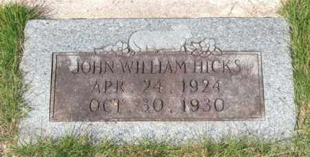 HICKS, JOHN WILLIAM - Saline County, Arkansas | JOHN WILLIAM HICKS - Arkansas Gravestone Photos