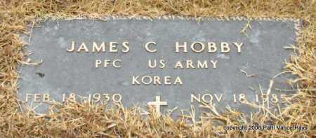 HOBBY (VETERAN KOR), JAMES C - Saline County, Arkansas   JAMES C HOBBY (VETERAN KOR) - Arkansas Gravestone Photos