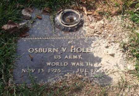 HOLEMAN (VETERAN WWII), OSBURN V - Saline County, Arkansas | OSBURN V HOLEMAN (VETERAN WWII) - Arkansas Gravestone Photos