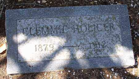 HOLICER, CLEMMIE - Saline County, Arkansas | CLEMMIE HOLICER - Arkansas Gravestone Photos