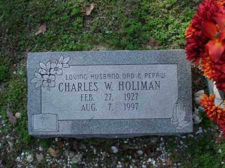 HOLIMAN, CHARLES W. - Saline County, Arkansas   CHARLES W. HOLIMAN - Arkansas Gravestone Photos