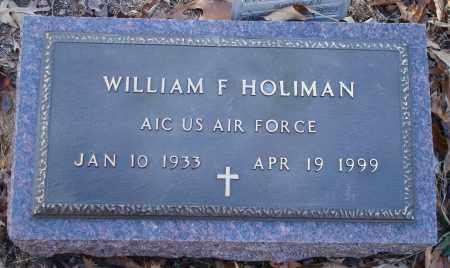 HOLIMAN (VETERAN), WILLIAM F - Saline County, Arkansas | WILLIAM F HOLIMAN (VETERAN) - Arkansas Gravestone Photos