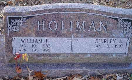 HOLIMAN, WILLIAM F - Saline County, Arkansas | WILLIAM F HOLIMAN - Arkansas Gravestone Photos