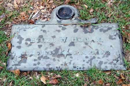 HOMAN, ETHEL W. - Saline County, Arkansas | ETHEL W. HOMAN - Arkansas Gravestone Photos