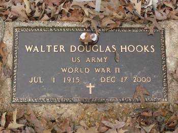 HOOKS (VETERAN WWII), WALTER DOUGLAS - Saline County, Arkansas | WALTER DOUGLAS HOOKS (VETERAN WWII) - Arkansas Gravestone Photos
