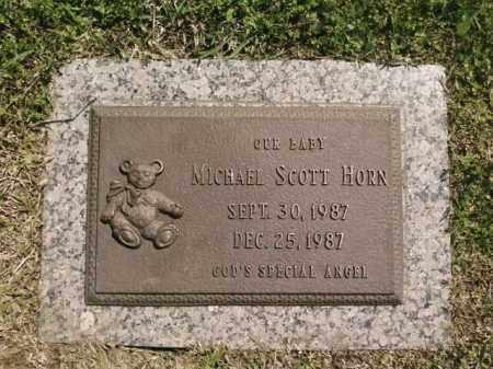 HORN, MICHAEL SCOTT - Saline County, Arkansas   MICHAEL SCOTT HORN - Arkansas Gravestone Photos