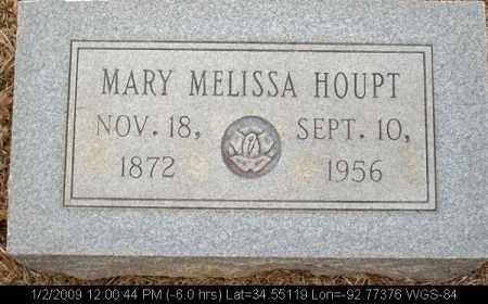 HOUPT, MARY MELISSA - Saline County, Arkansas | MARY MELISSA HOUPT - Arkansas Gravestone Photos