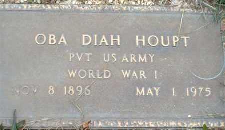 HOUPT (VETERAN WWI), OBA DIAH - Saline County, Arkansas   OBA DIAH HOUPT (VETERAN WWI) - Arkansas Gravestone Photos