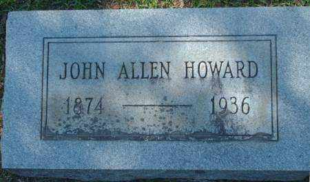 HOWARD, JOHN ALLEN - Saline County, Arkansas | JOHN ALLEN HOWARD - Arkansas Gravestone Photos