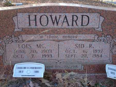HOWARD, SID R - Saline County, Arkansas | SID R HOWARD - Arkansas Gravestone Photos