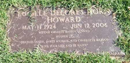 HORN HOWARD, LUCILLE DELORES - Saline County, Arkansas | LUCILLE DELORES HORN HOWARD - Arkansas Gravestone Photos