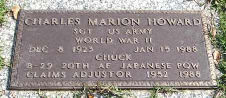 HOWARD (VETERAN WWII, POW), CHARLES MARION - Saline County, Arkansas | CHARLES MARION HOWARD (VETERAN WWII, POW) - Arkansas Gravestone Photos