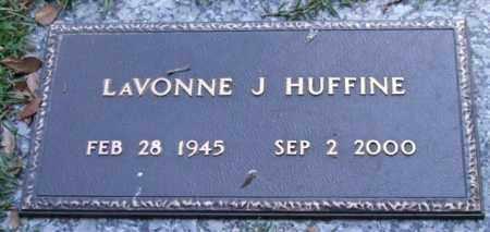 HUFFINE, LAVONNE J. - Saline County, Arkansas | LAVONNE J. HUFFINE - Arkansas Gravestone Photos