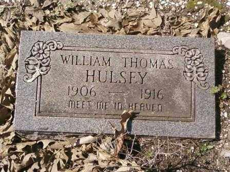 HULSEY, WILLIAM THOMAS - Saline County, Arkansas | WILLIAM THOMAS HULSEY - Arkansas Gravestone Photos