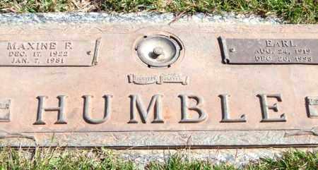HUMBLE, MAXINE F. - Saline County, Arkansas   MAXINE F. HUMBLE - Arkansas Gravestone Photos