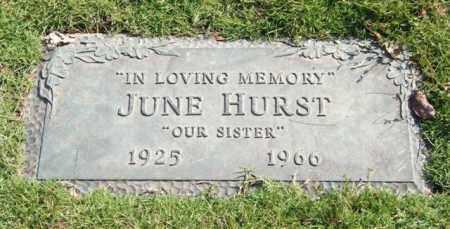 HURST, JUNE - Saline County, Arkansas | JUNE HURST - Arkansas Gravestone Photos