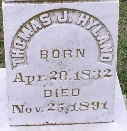 HYLAND, THOMAS J - Saline County, Arkansas | THOMAS J HYLAND - Arkansas Gravestone Photos