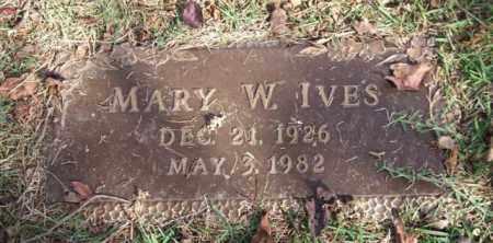 IVES, MARY W. - Saline County, Arkansas   MARY W. IVES - Arkansas Gravestone Photos
