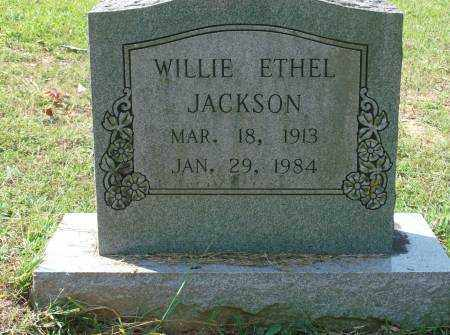 JACKSON, WILLIE ETHEL - Saline County, Arkansas   WILLIE ETHEL JACKSON - Arkansas Gravestone Photos