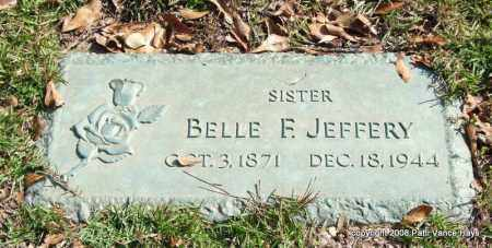 JEFFERY, BELLE F. - Saline County, Arkansas | BELLE F. JEFFERY - Arkansas Gravestone Photos
