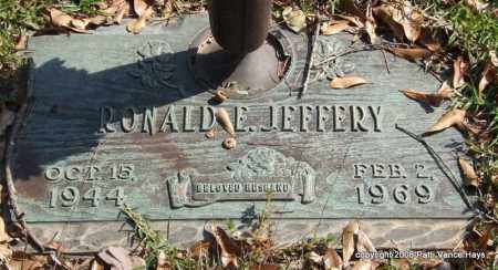 JEFFERY, RONALD E. - Saline County, Arkansas | RONALD E. JEFFERY - Arkansas Gravestone Photos