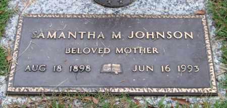 JOHNSON, SAMANTHA M. - Saline County, Arkansas | SAMANTHA M. JOHNSON - Arkansas Gravestone Photos