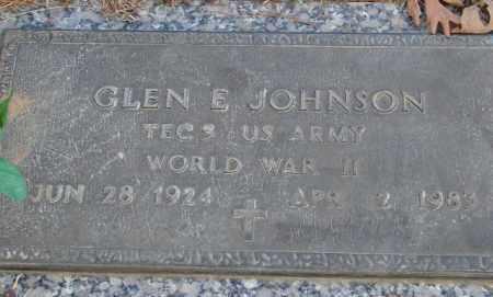 JOHNSON (VETERAN WWII), GLEN E - Saline County, Arkansas | GLEN E JOHNSON (VETERAN WWII) - Arkansas Gravestone Photos
