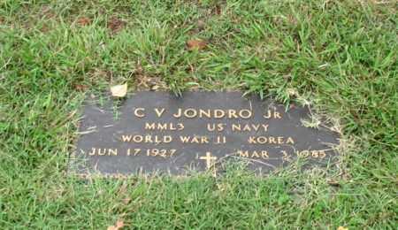 JONDRO, JR. (VETERAN 2 WARS), C. V. - Saline County, Arkansas   C. V. JONDRO, JR. (VETERAN 2 WARS) - Arkansas Gravestone Photos