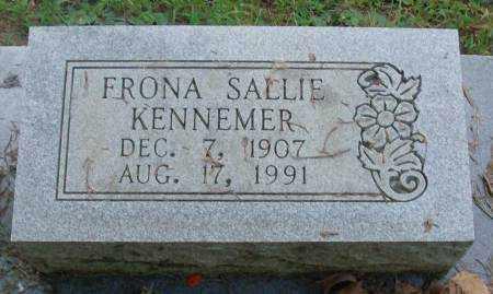 KENNEMER, FRONA SALLIE - Saline County, Arkansas | FRONA SALLIE KENNEMER - Arkansas Gravestone Photos