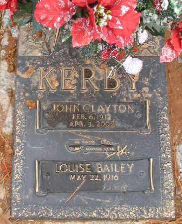 KERBY, JOHN CLAYTON - Saline County, Arkansas | JOHN CLAYTON KERBY - Arkansas Gravestone Photos