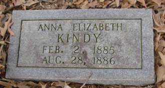 KINDY, ANNA ELIZABETH - Saline County, Arkansas | ANNA ELIZABETH KINDY - Arkansas Gravestone Photos
