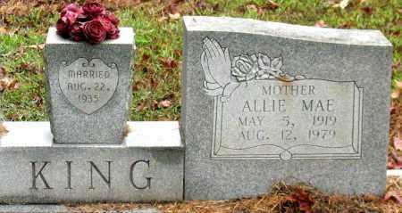 KING, ALLIE MAE - Saline County, Arkansas | ALLIE MAE KING - Arkansas Gravestone Photos