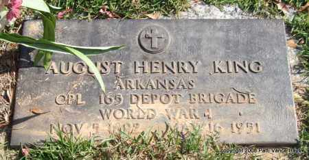 KING (VETERAN WWI), AUGUST HENRY - Saline County, Arkansas | AUGUST HENRY KING (VETERAN WWI) - Arkansas Gravestone Photos