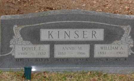 KINSER, DOYLE E. - Saline County, Arkansas | DOYLE E. KINSER - Arkansas Gravestone Photos