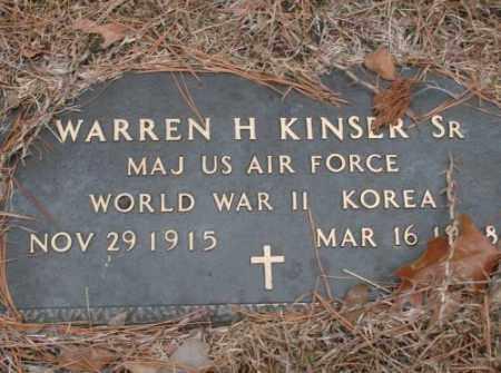 KINSER, SR (VETERAN 2 WARS), WARREN H - Saline County, Arkansas | WARREN H KINSER, SR (VETERAN 2 WARS) - Arkansas Gravestone Photos