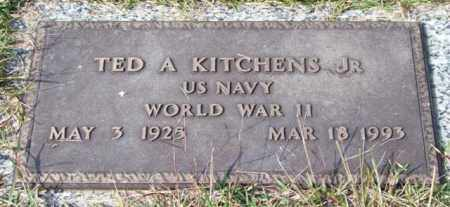 KITCHENS, JR. (VETERAN WWII), TED A - Saline County, Arkansas | TED A KITCHENS, JR. (VETERAN WWII) - Arkansas Gravestone Photos