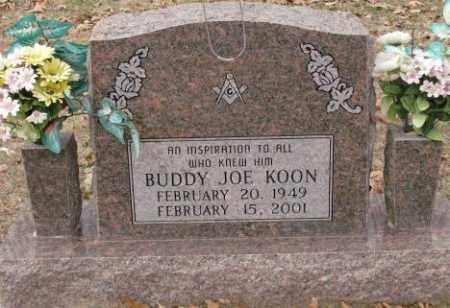 KOON, BUDDY JOE - Saline County, Arkansas   BUDDY JOE KOON - Arkansas Gravestone Photos
